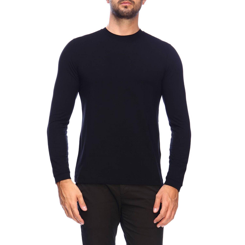 T-Shirt Giorgio Armani: Giorgio Armani T-Shirt mit Rundhalsausschnitt aus Stretch-Viskose-Jersey schwarz 1