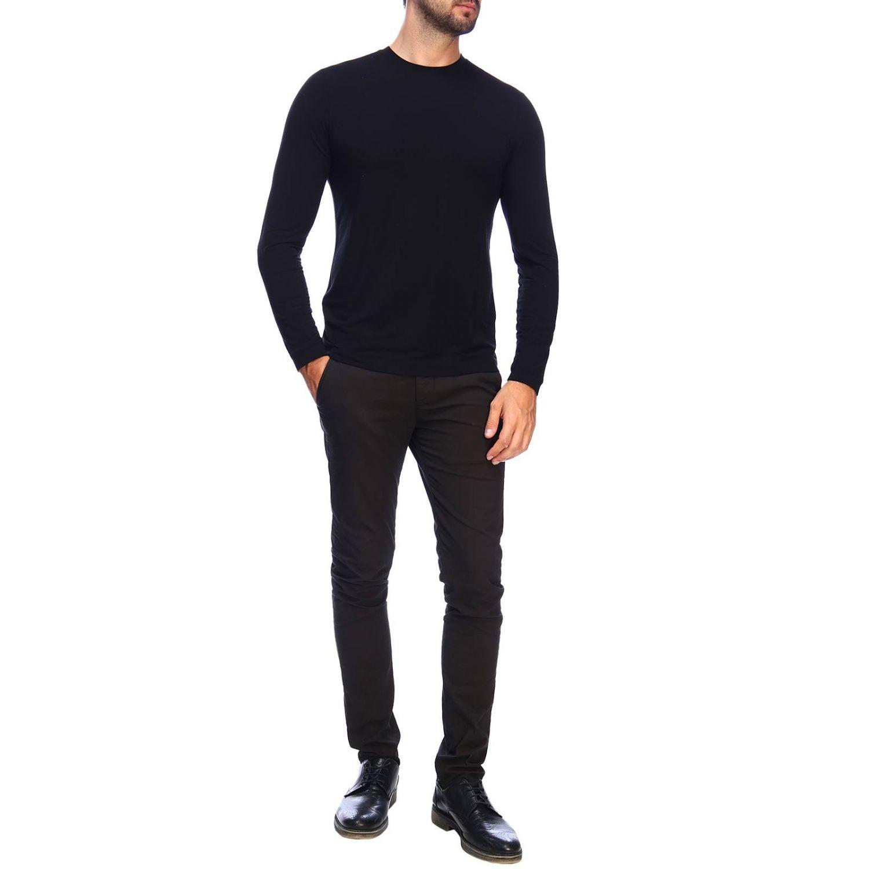 T-Shirt Giorgio Armani: Giorgio Armani T-Shirt mit Rundhalsausschnitt aus Stretch-Viskose-Jersey schwarz 2
