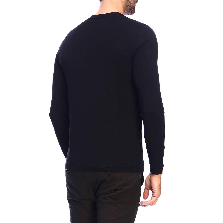 T-Shirt Giorgio Armani: Giorgio Armani T-Shirt mit Rundhalsausschnitt aus Stretch-Viskose-Jersey schwarz 3