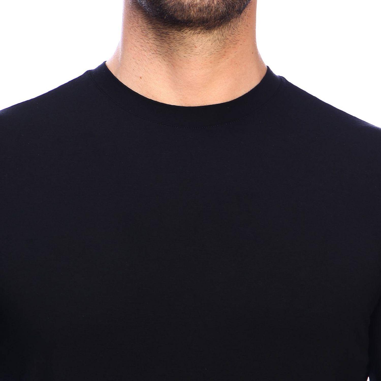 T-Shirt Giorgio Armani: Giorgio Armani T-Shirt mit Rundhalsausschnitt aus Stretch-Viskose-Jersey schwarz 4