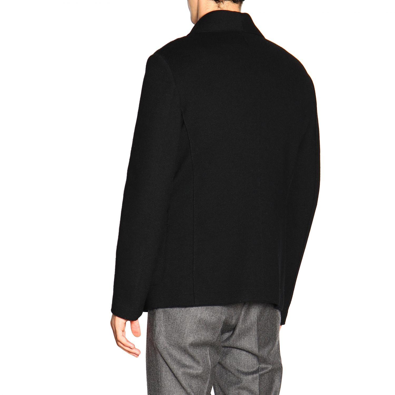 Chaqueta cruzada de lana cruda de Giorgio Armani azul oscuro 3
