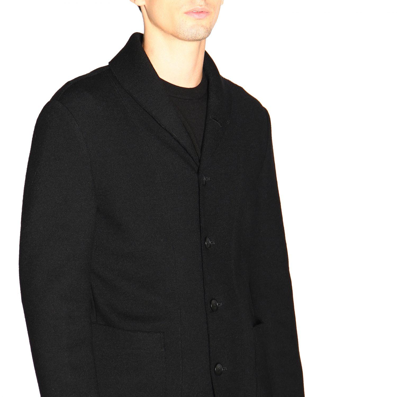Chaqueta cruzada de lana cruda de Giorgio Armani azul oscuro 5