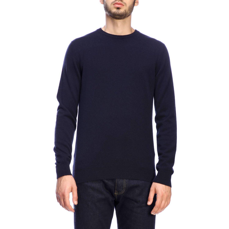 Pull Giorgio Armani: Pullover classique Giorgio Armani en cachemire bleu 1