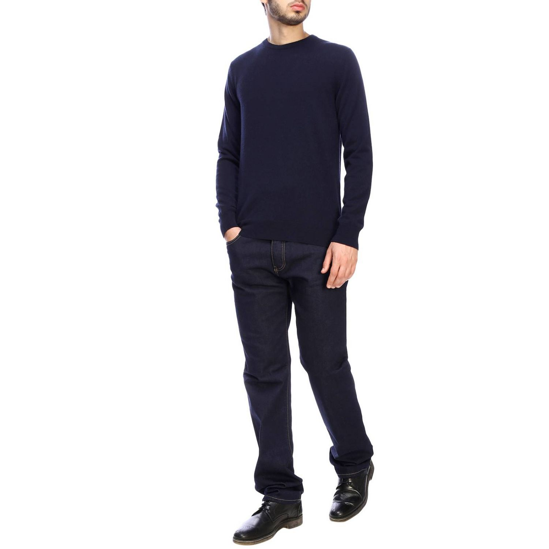 Pull Giorgio Armani: Pullover classique Giorgio Armani en cachemire bleu 2