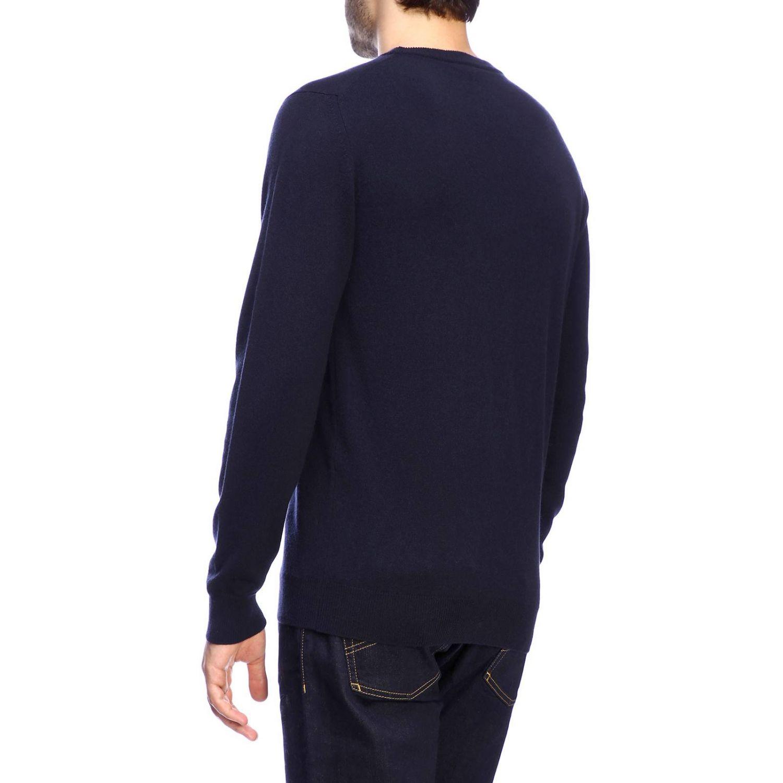 Pull Giorgio Armani: Pullover classique Giorgio Armani en cachemire bleu 3