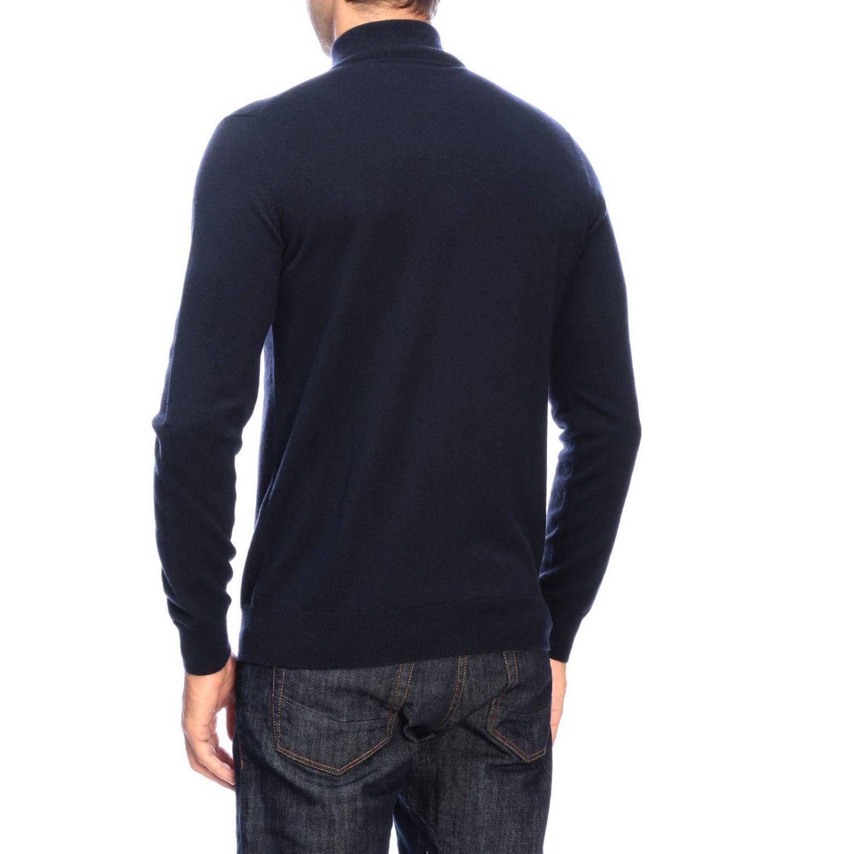 Giorgio Armani basic cashmere cardigan with zip blue 2