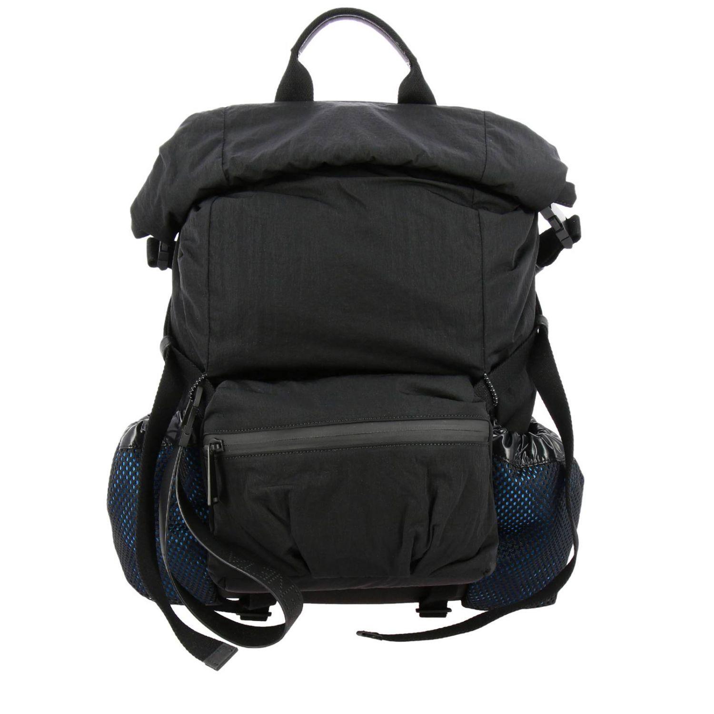 Bottega Veneta backpack in nylon and mesh black 1