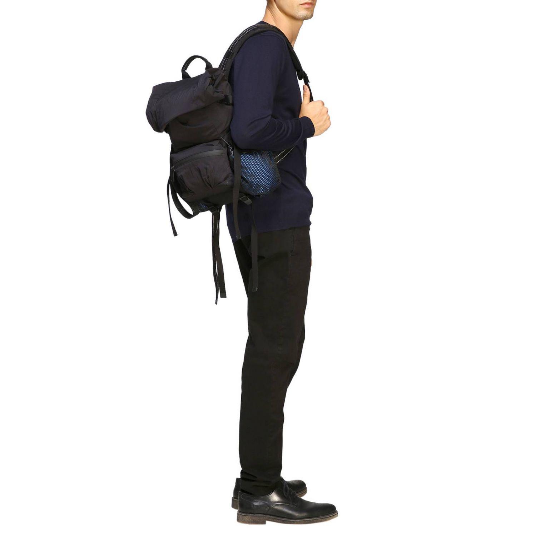 Bottega Veneta backpack in nylon and mesh black 2