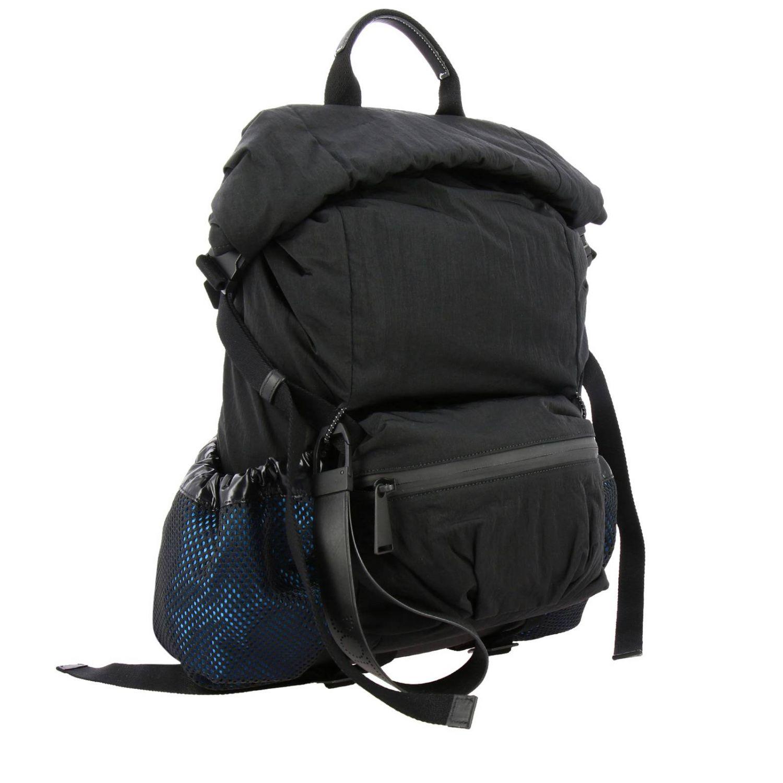 Bottega Veneta backpack in nylon and mesh black 3