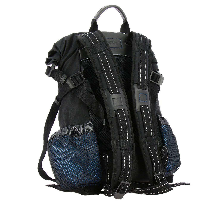 Bottega Veneta backpack in nylon and mesh black 4