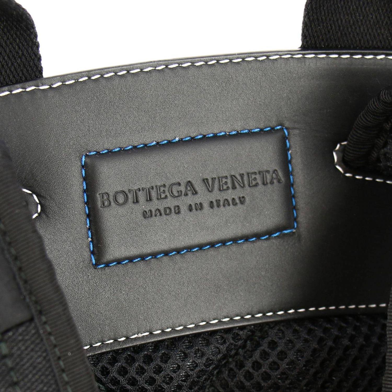 Bottega Veneta backpack in nylon and mesh black 5