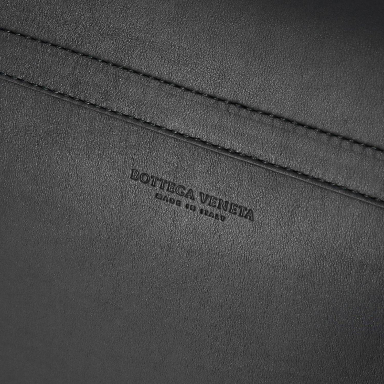 Borsa Messanger Bottega Veneta in vera pelle con maxi intreccio e tracolla nero 4
