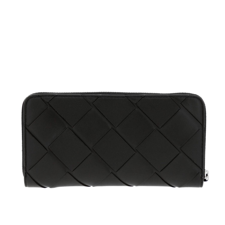 Bottega Veneta大号拉链钱包,采用编织皮革制成 黑色 3