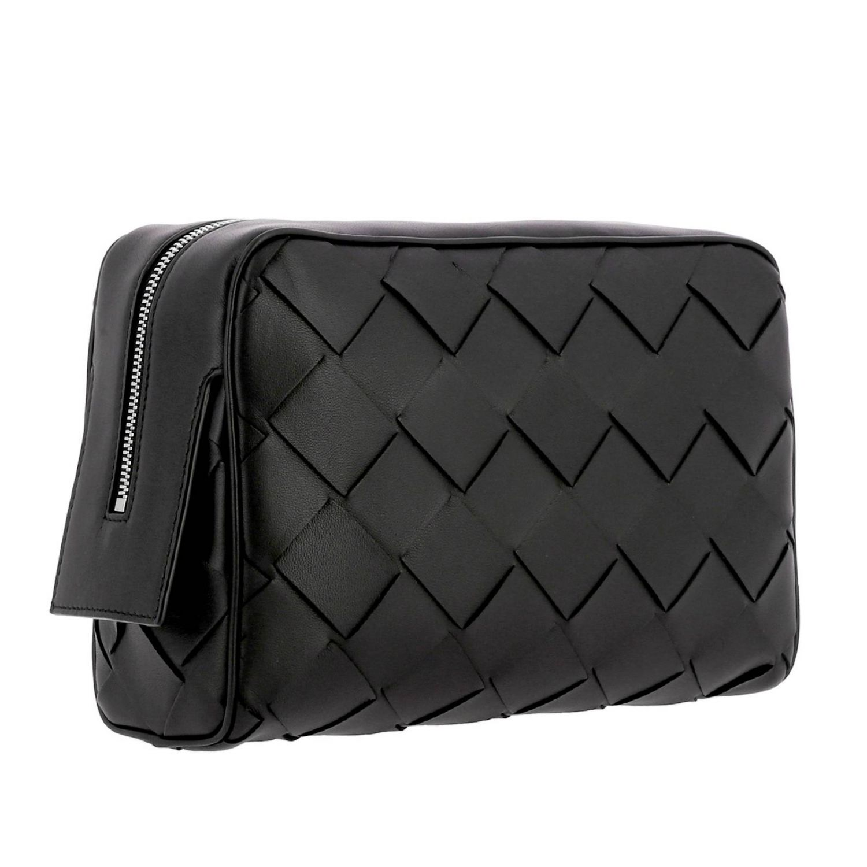 Bottega Veneta Beauty Case in maxi woven leather black 3