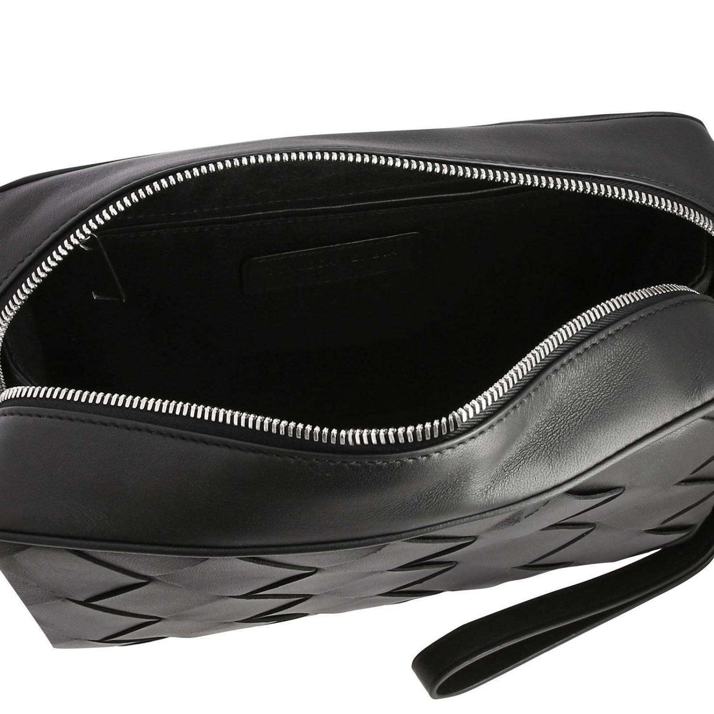 Bottega Veneta Beauty Case in maxi woven leather black 5