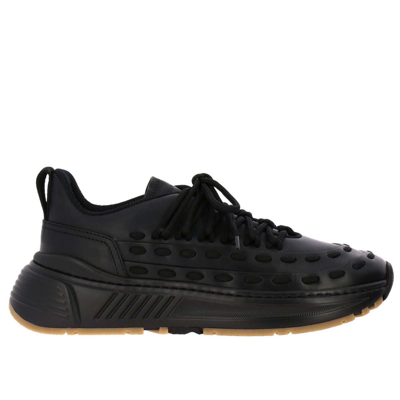 Bottega Veneta sneakers in leather with criss cross black 1