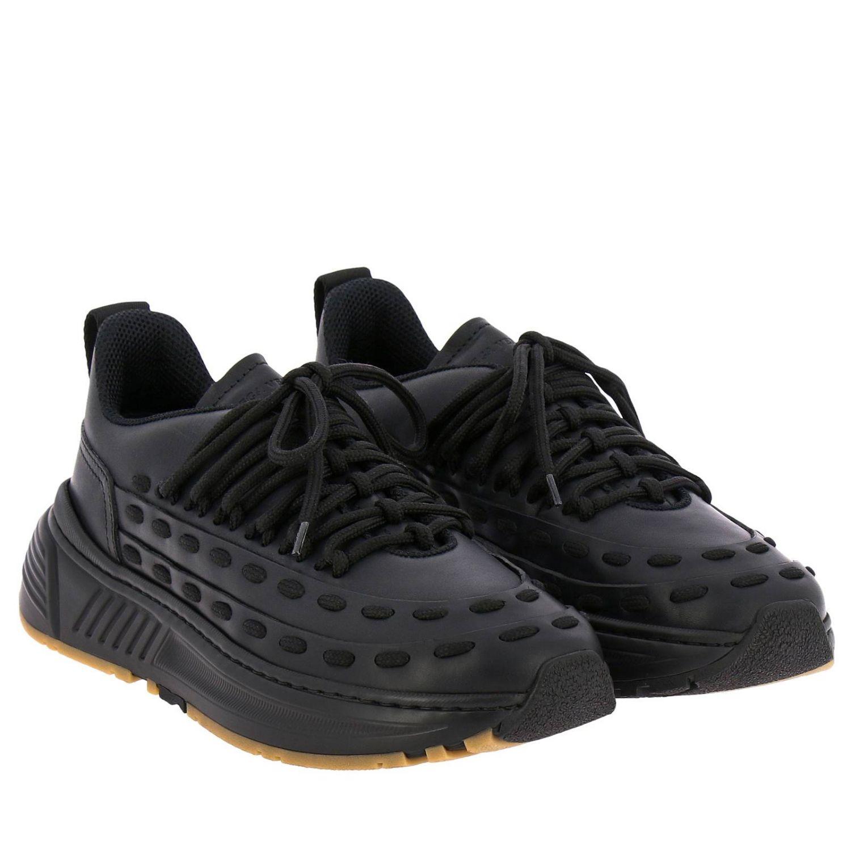 Bottega Veneta sneakers in leather with criss cross black 2