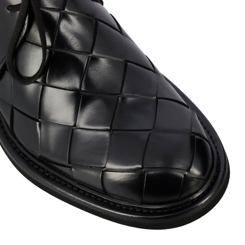 Polacchine Bottega Veneta: Polacco Bottega Veneta in vera pelle liscia con maxi lavorazione intrecciata nero 4