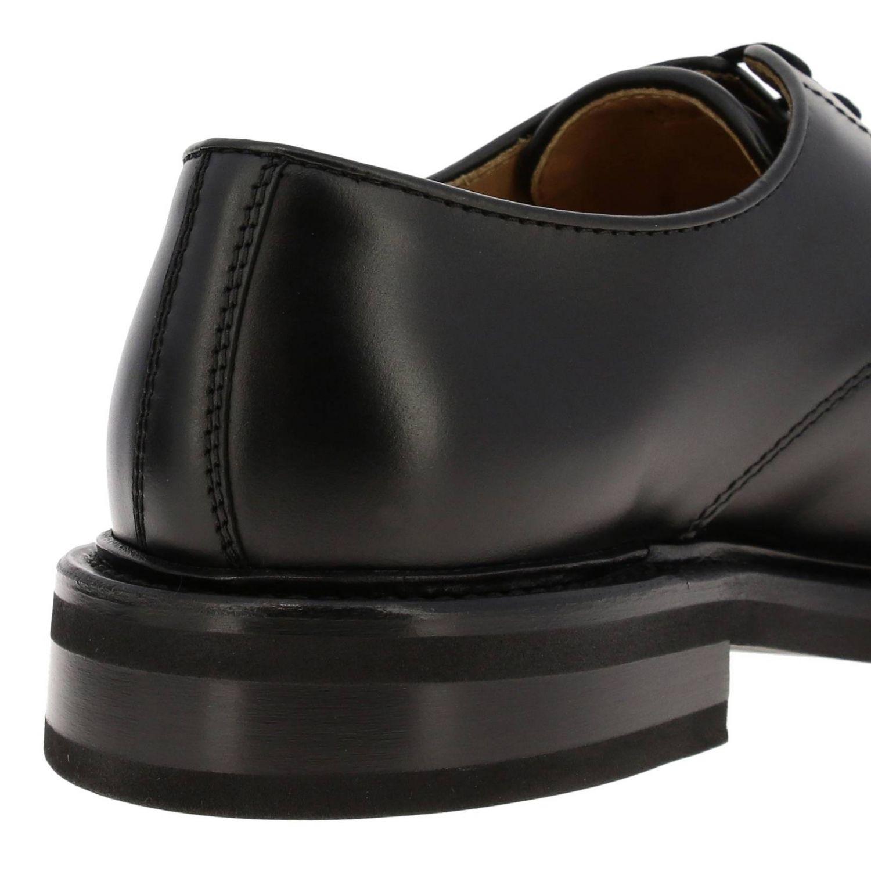 Ботинки дерби Bottega Veneta из натуральной кожи с плетением макси черный 4
