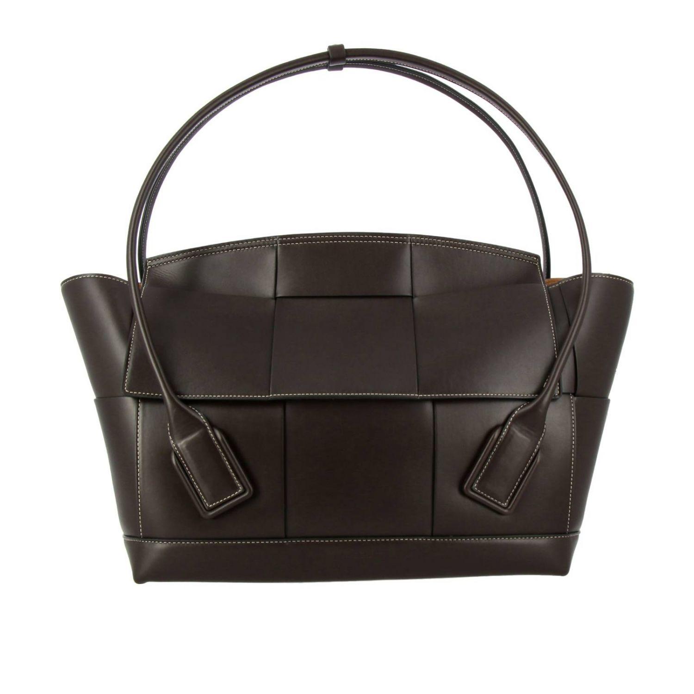 肩包 Bottega Veneta: Bottega Veneta手袋,大号编织图案真皮制成 暗色 1