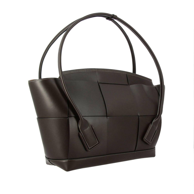 肩包 Bottega Veneta: Bottega Veneta手袋,大号编织图案真皮制成 暗色 3