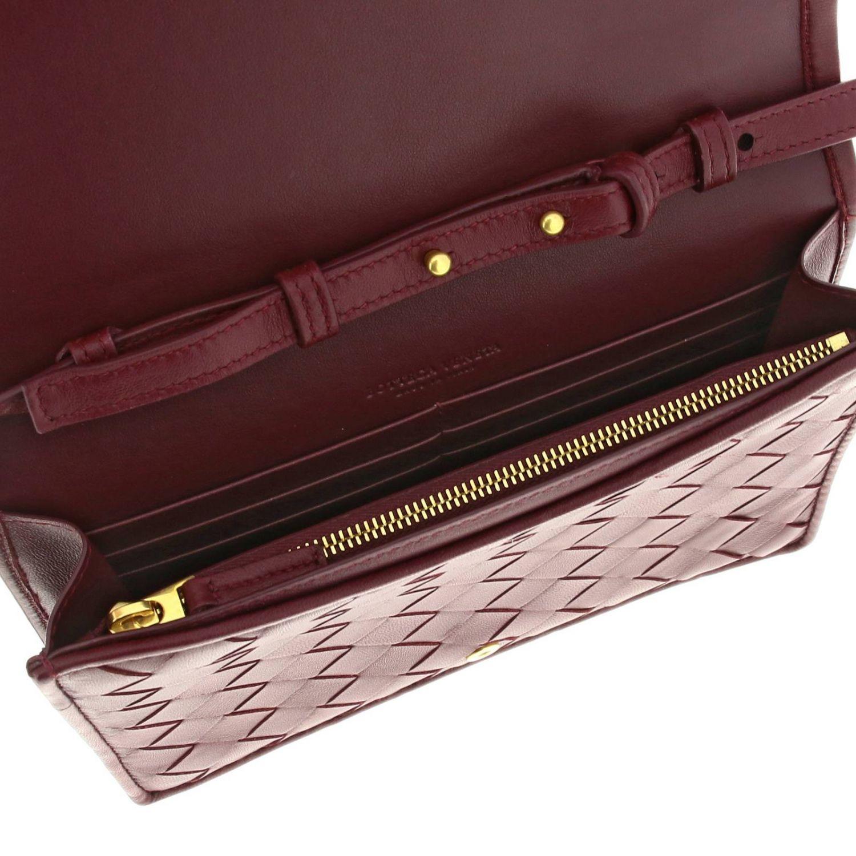 Bottega Veneta Umhängetasche aus Leder mit Maxi-Gewebe burgunderrot 5