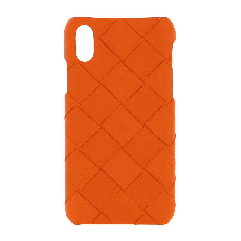 Bottega Veneta Iphone xs woven leather cover orange 1