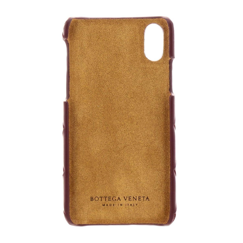 Iphone xs Bottega Veneta Hülle aus gewebtem Leder burgunderrot 2