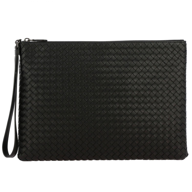 Mini bag Bottega Veneta: Braided genuine leather pochette black 1