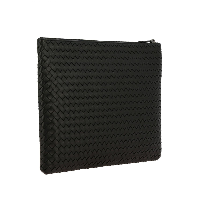 Mini bag Bottega Veneta: Braided genuine leather pochette black 2