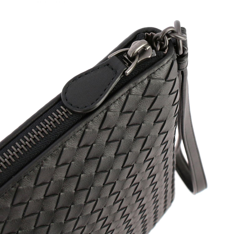 Mini bag Bottega Veneta: Braided genuine leather pochette black 3