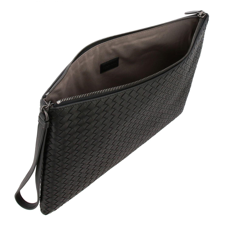 Mini bag Bottega Veneta: Braided genuine leather pochette black 4