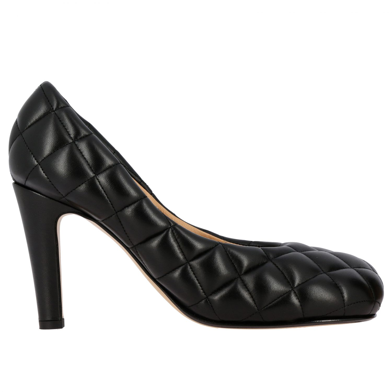 Туфли-лодочки Bottega Veneta: Туфли Padded Bottega Veneta из тисненой кожи черный 1