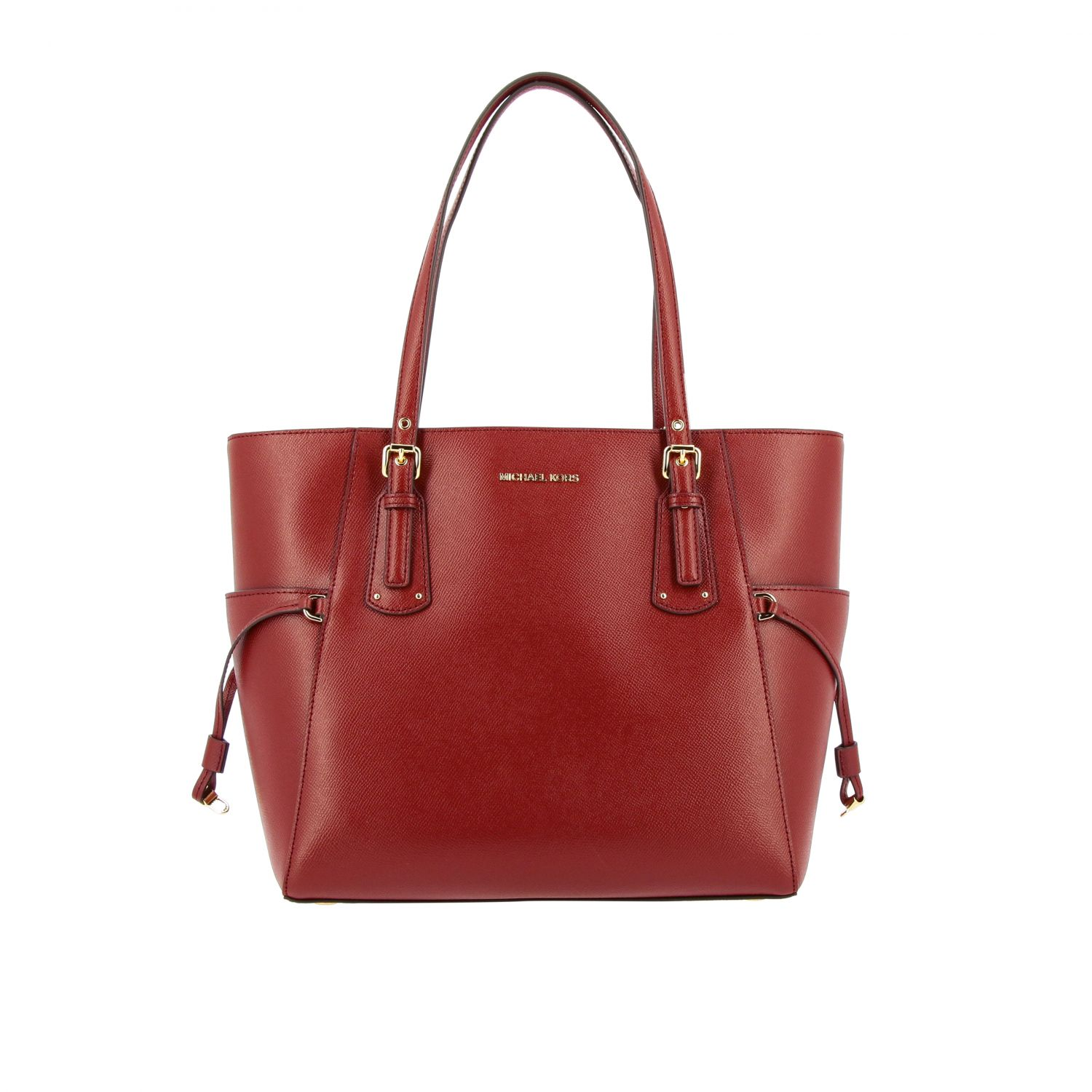 Michael Michael Kors Voyager east west tote 真皮手袋 酒红 1