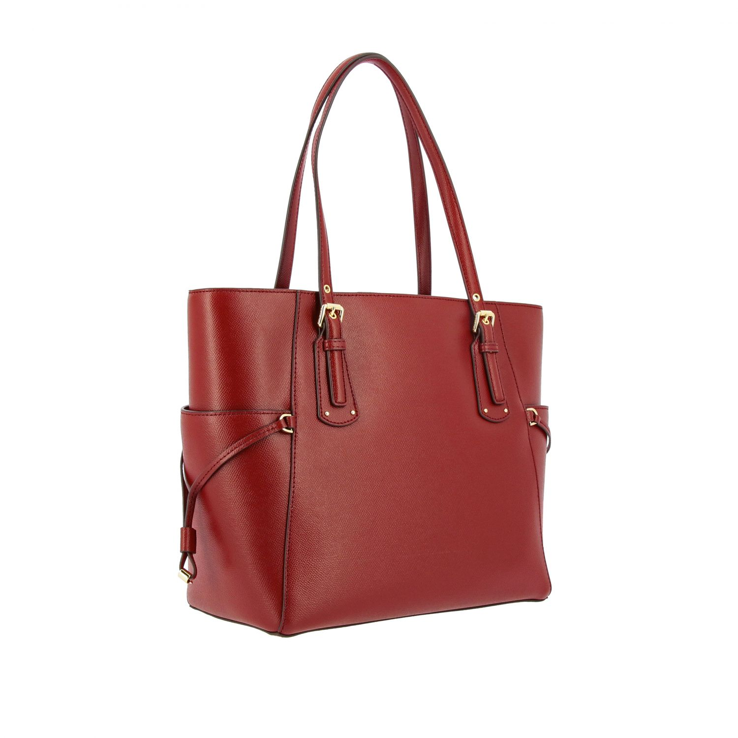 Michael Michael Kors Voyager east west tote 真皮手袋 酒红 3