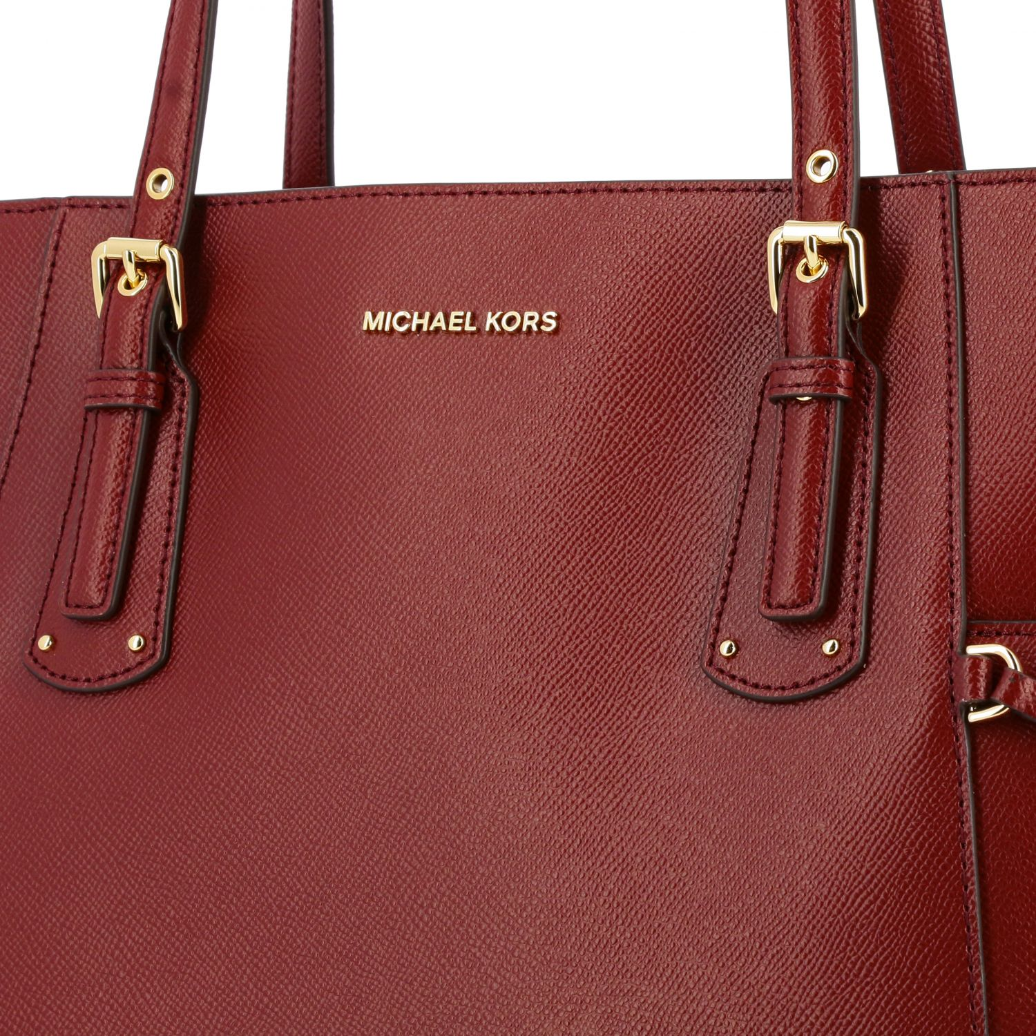 Michael Michael Kors Voyager east west tote 真皮手袋 酒红 4