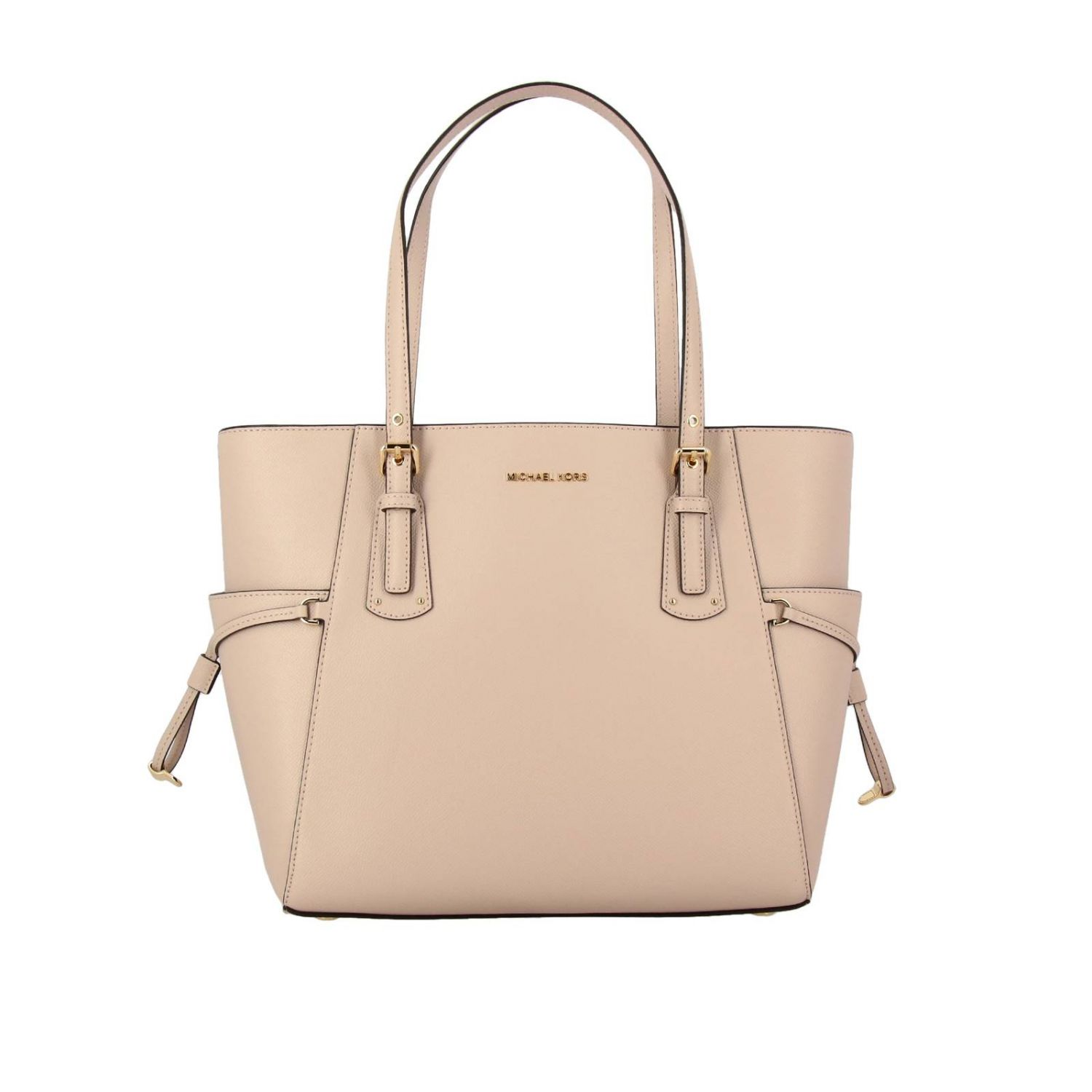 Michael Michael Kors Voyager east west tote 真皮手袋 粉末色 1