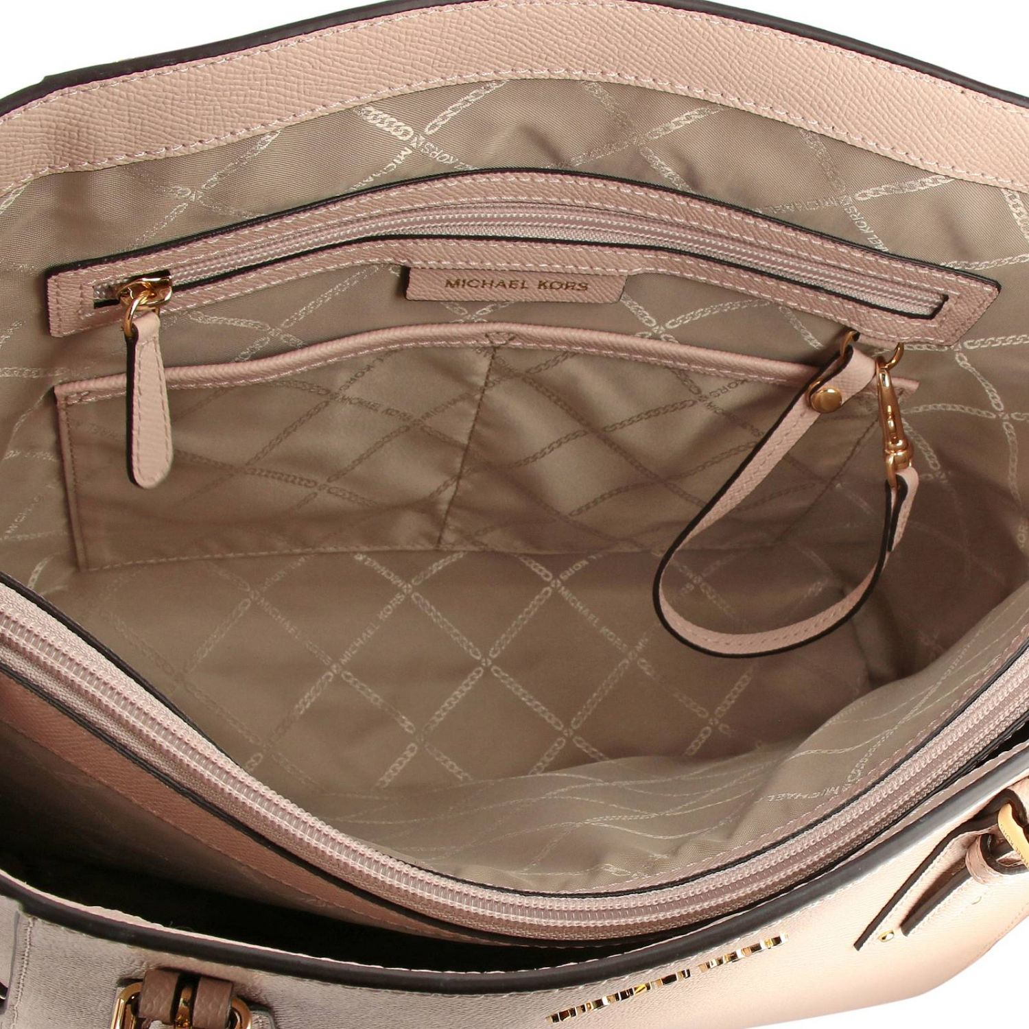 Michael Michael Kors Voyager east west tote 真皮手袋 粉末色 5