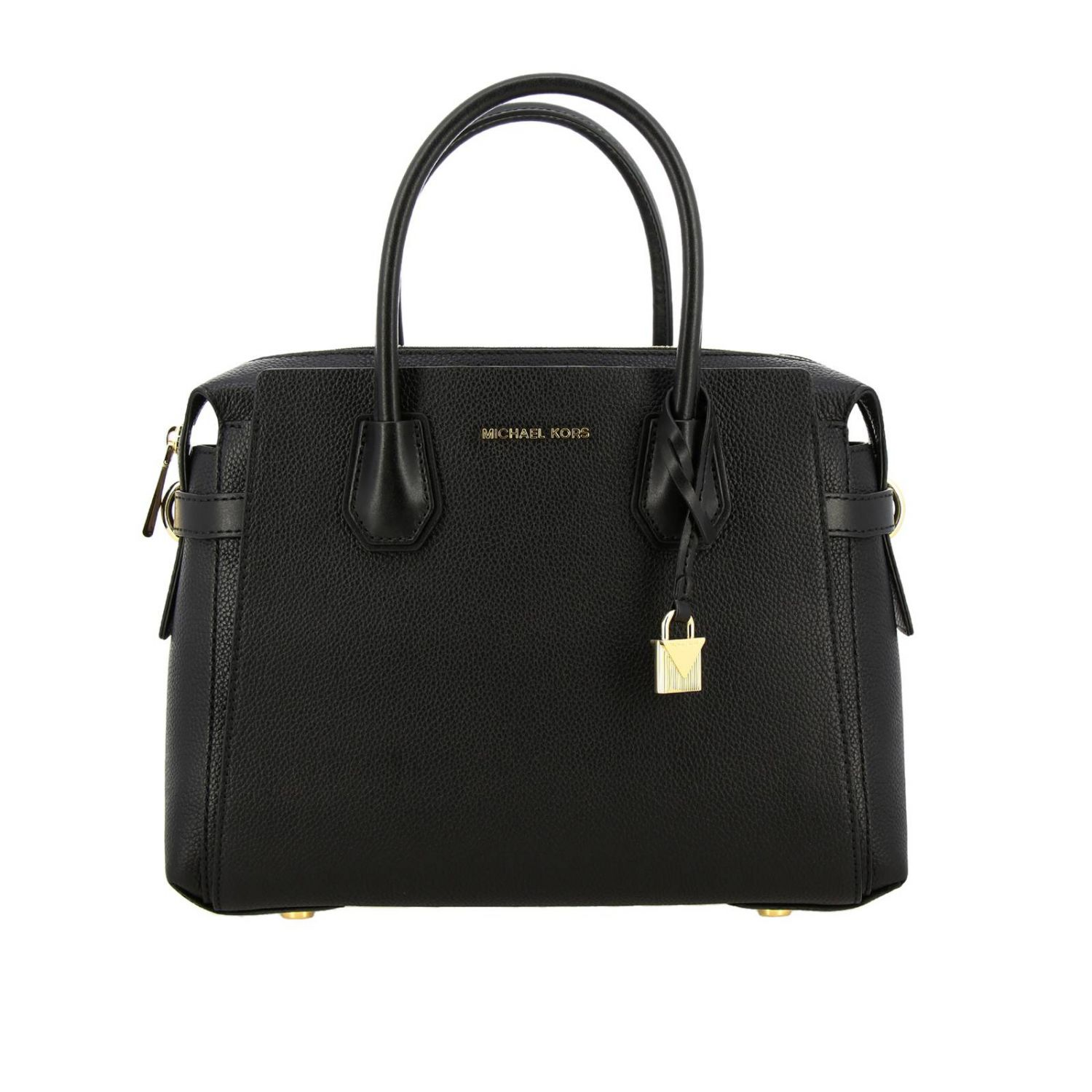 Mercer medium Michael Michael Kors bag in textured leather black 1