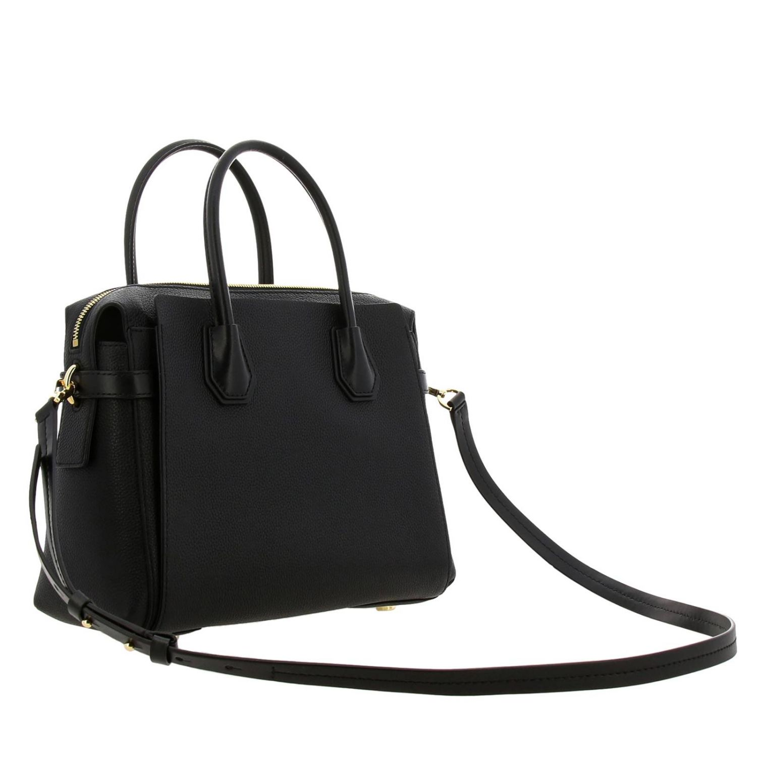 Mercer medium Michael Michael Kors bag in textured leather black 3