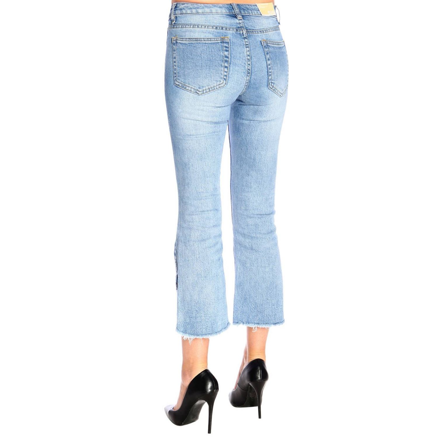 Jeans Michael Michael Kors cropped in denim used a 5 tasche