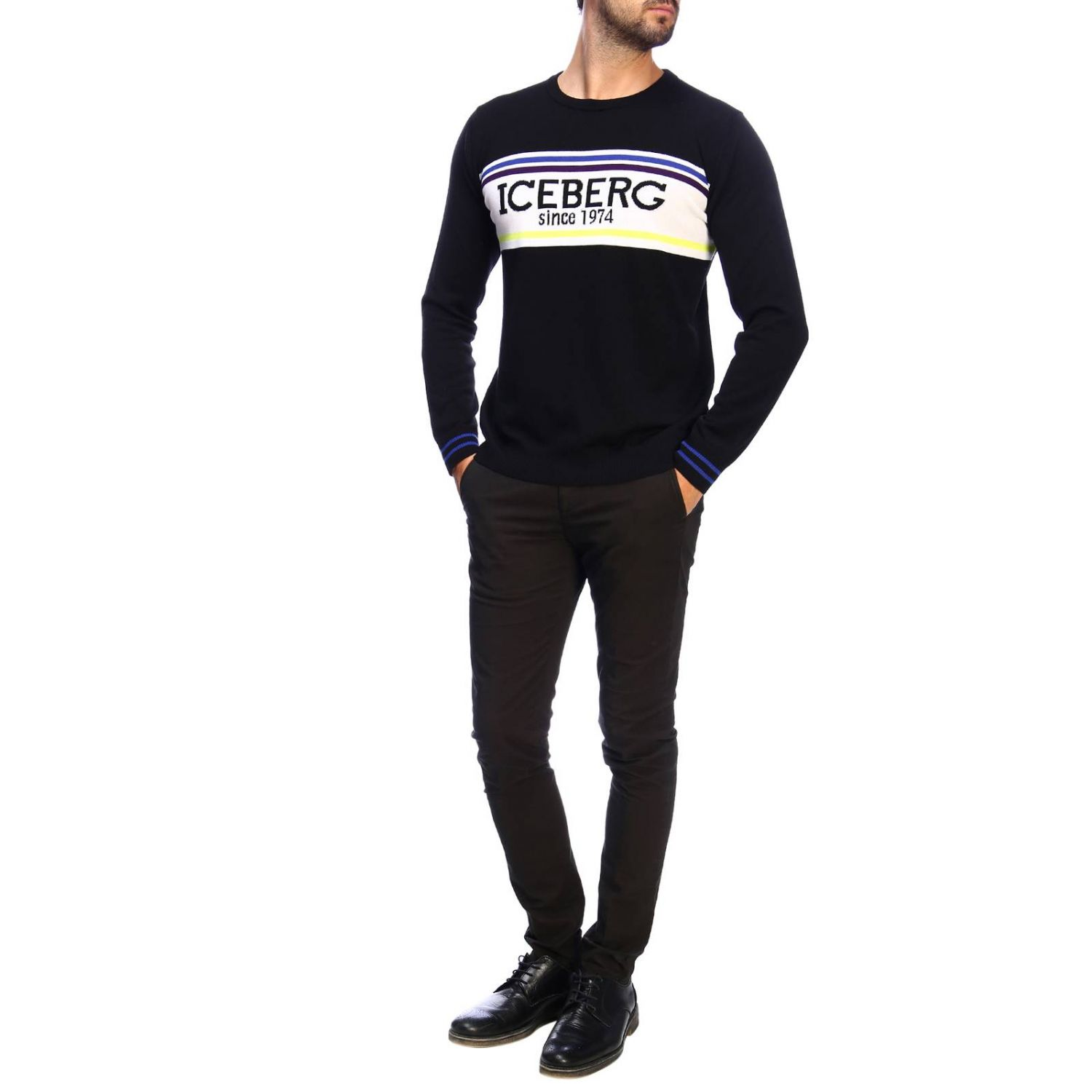 Sweater Iceberg: Sweater men Iceberg black 2