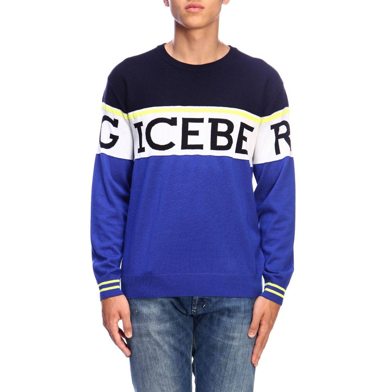 Pull homme Iceberg bleu 1