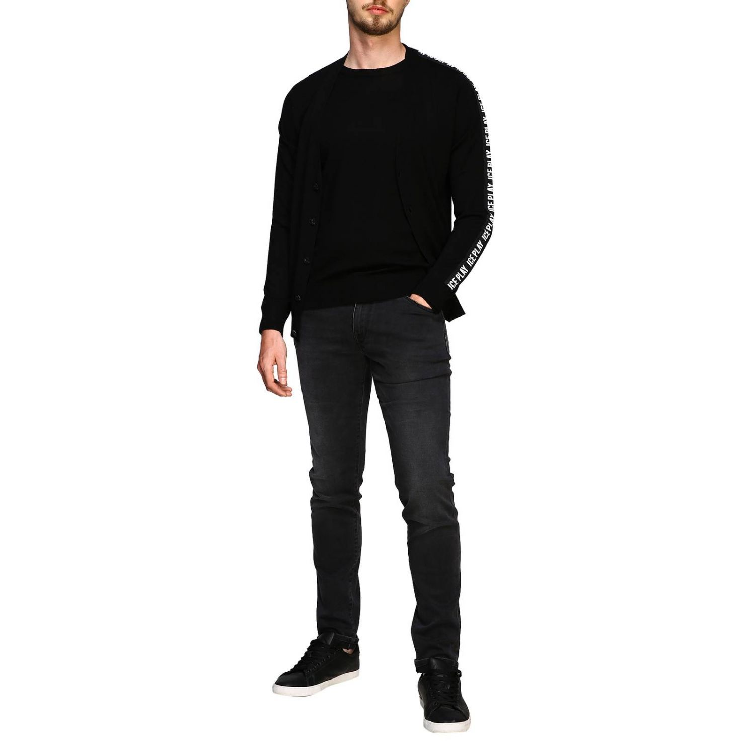 Pull homme Ice Play noir 2
