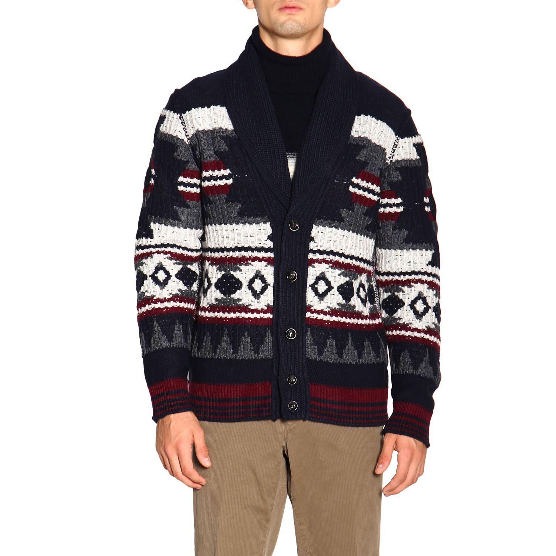 针织开衫 Paolo Pecora: 毛衣 男士 Paolo Pecora 蓝色 1
