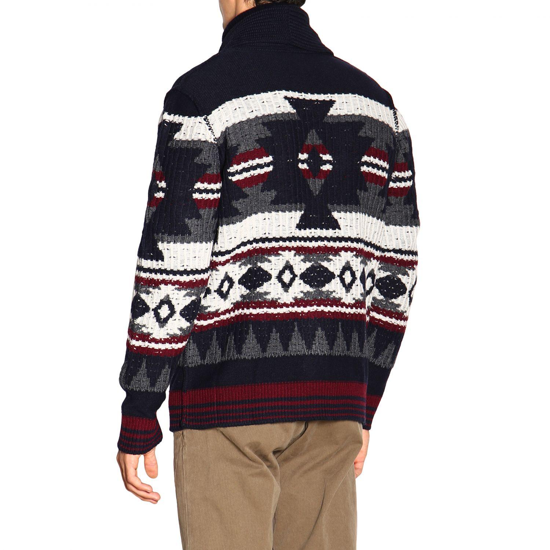 针织开衫 Paolo Pecora: 毛衣 男士 Paolo Pecora 蓝色 3