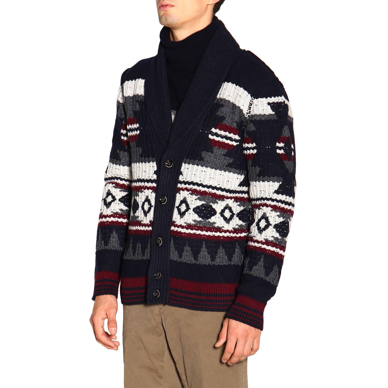 针织开衫 Paolo Pecora: 毛衣 男士 Paolo Pecora 蓝色 4