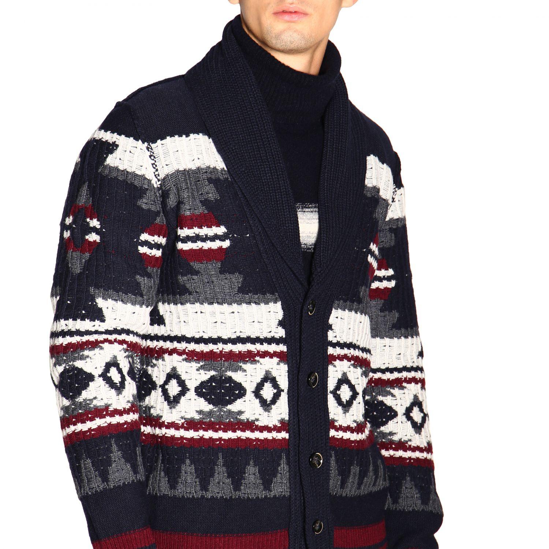 针织开衫 Paolo Pecora: 毛衣 男士 Paolo Pecora 蓝色 5