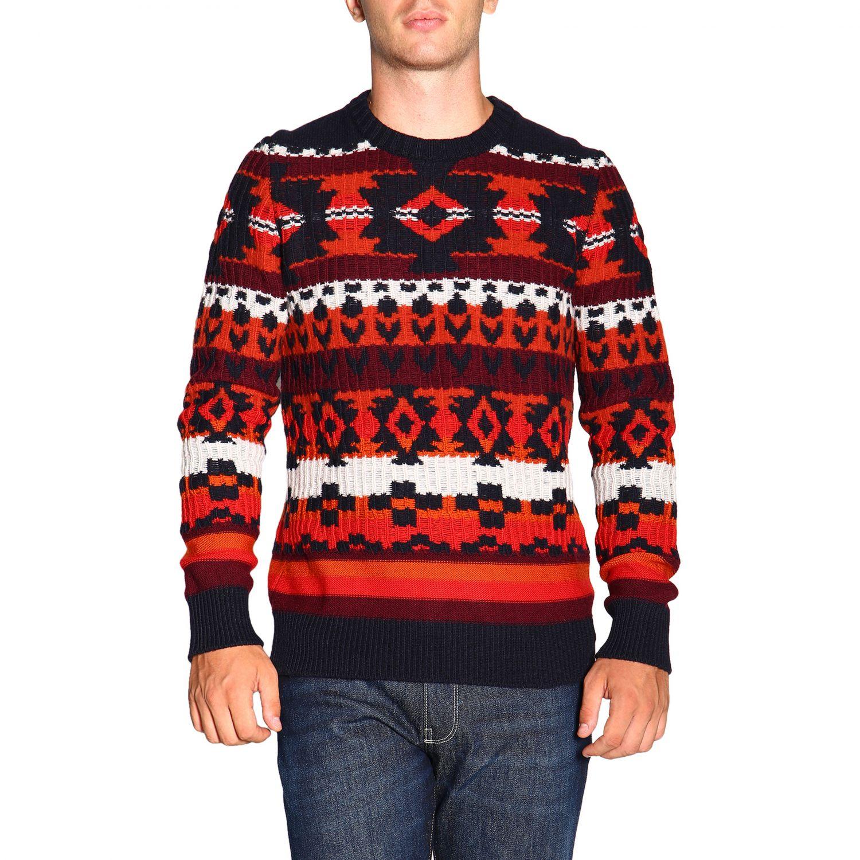 Sweater men Paolo Pecora blue 1
