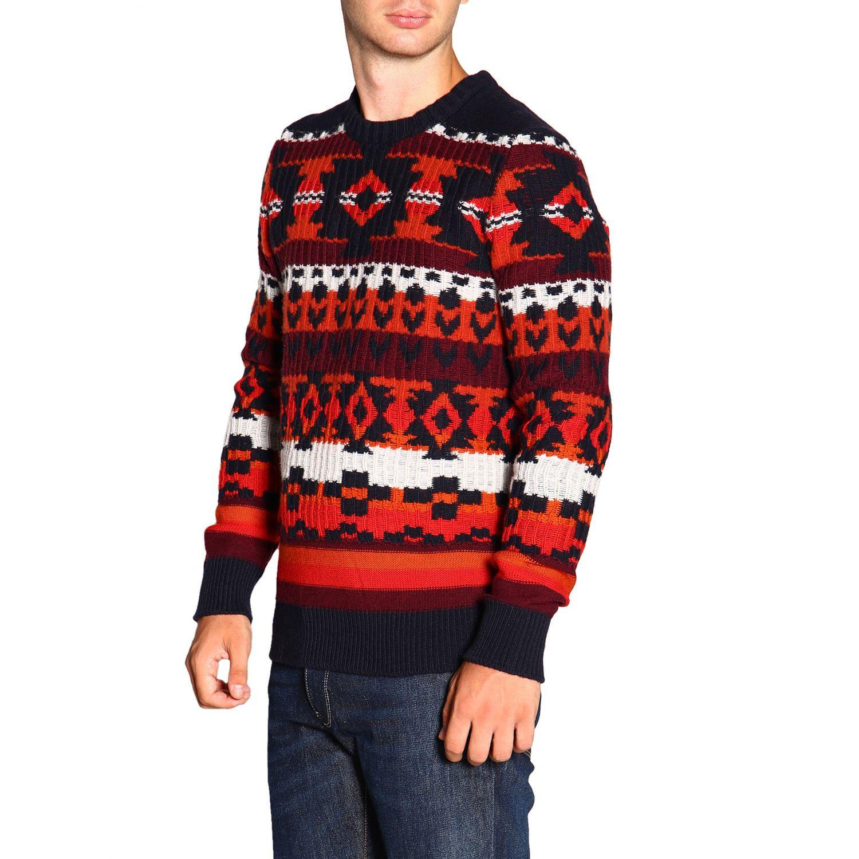 Sweater men Paolo Pecora blue 4